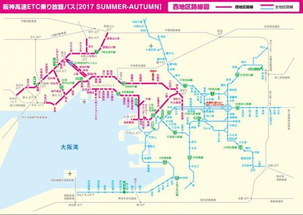 西地区路線図