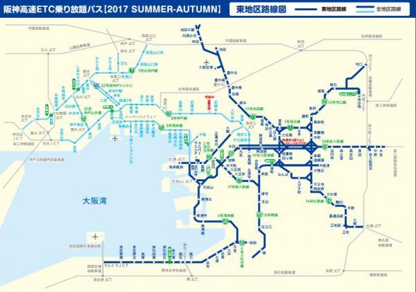 東地区路線図